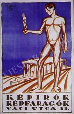 Egry József - Képírók-képfaragók (plakát)