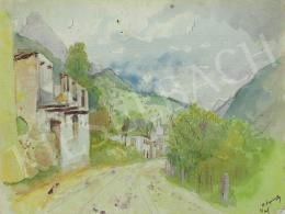 Mednyánszky, László - Little town in the Mountains