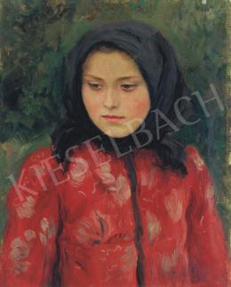 Glatz, Oszkár - Girl in Scarf