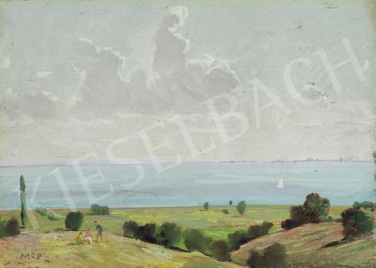 Molnár C., Pál - Lake Balaton with Sailboat   34th Auction auction / 9 Item
