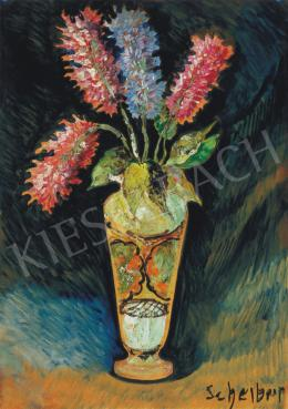 Scheiber Hugó - Virágok vázában, 1920 körül