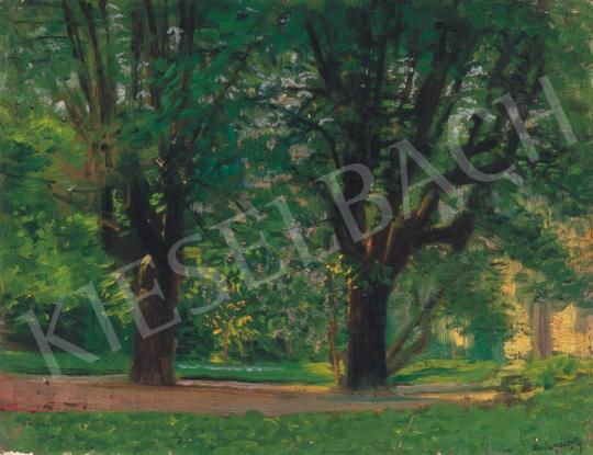 Mednyánszky, László - Detail of Hűvösvölgy | 34th Auction auction / 15 Item