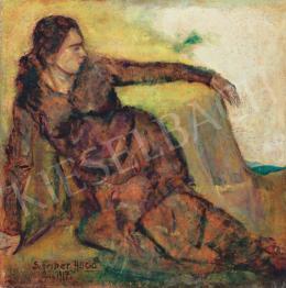 Scheiber Hugó - Szabadban, 1917