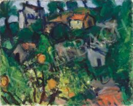 Czóbel Béla - Dél-francia táj narancsfákkal (1930 körül)