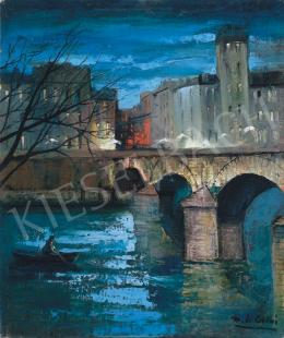 Corini, Margit - Evening by the River Seine in Paris