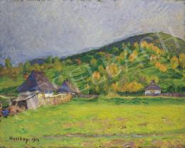 Hollósy Simon - Domboldal hajnali fényben (1916)