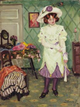 Illencz, Lipót - Getting Ready for a Date, 1911