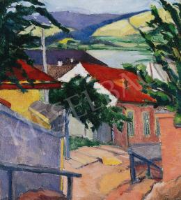 Tihanyi, Lajos, - Street in Trencsény, 1912