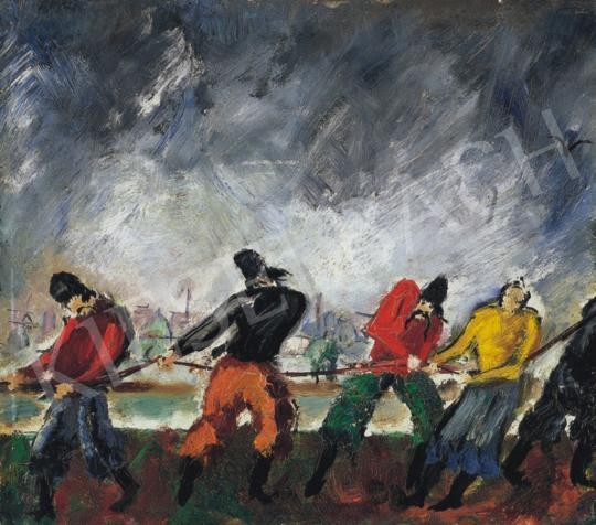 Peterdi, Gábor - Barge Haulers, about 1930   34th Auction auction / 42 Item