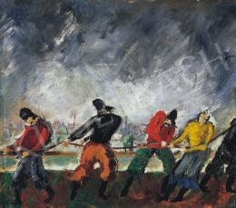 Peterdi Gábor - Hajóvontatók, 1930 körül