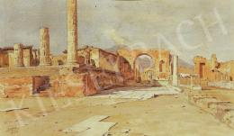 Edvi Illés, Aladár - The Forum in Pompeii, 1898