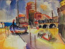 Aba-Novák Vilmos - Olasz kikötő