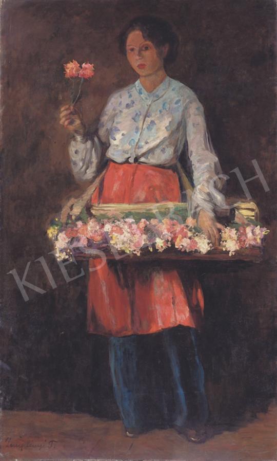 Zemplényi Tivadar - A kis virágáruslány | 34. Aukció aukció / 113 tétel