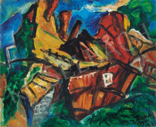 Frank Frigyes - Domboldal házakkal | 34. Aukció aukció / 127 tétel