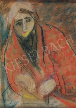 Vajda Júlia - Nő piros kabátban