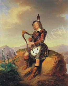 Laccataris Demeter - Hárfán játszó ifjú