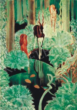 Fáy Aladár - Erdőbelső őzekkel