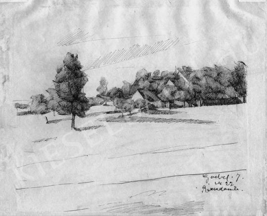 Paizs-Goebel Jenő - Rózsadomb, 1922 | Fotó- és grafikai aukció aukció / 3 tétel
