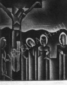 Gomogács Béla - Krisztus a keresztfán, 1934