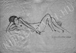 Ziffer Sándor - Fekvő női akt, 1908
