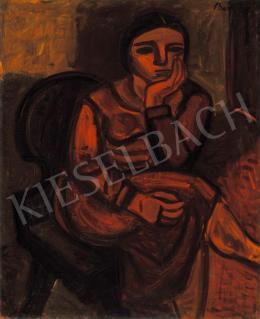 Barcsay Jenő - Ülő nő
