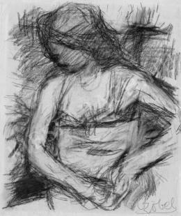 Czóbel Béla - Ülő nő, 1940-es évek