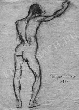 Ziffer Sándor - Férfi hátakt, 1920