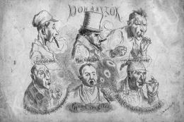 Gyárfás, Gy - Smokers, around 1870