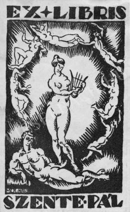 Molnár, Farkas - Ex libris Szente Pál, around 1920