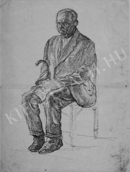Vajda, Lajos - Portrait of an Old Man | Auction of Photos and Works on Paper auction / 45 Item