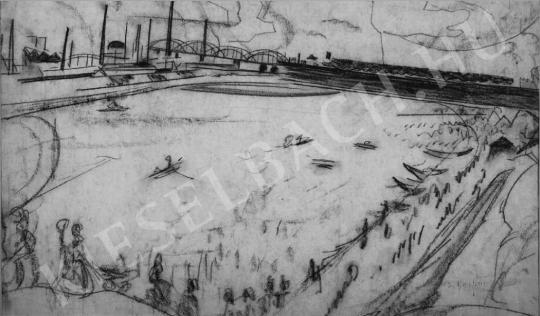 Scheiber, Hugó - View of the Danube | Auction of Photos and Works on Paper auction / 51 Item