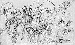 Nagy Sándor - Cím nélkül (kétoldalas rajz)