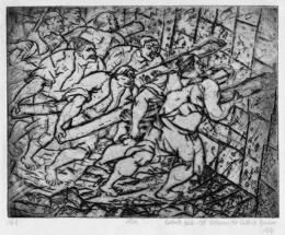 Derkovits Gyula - Dózsa-sorozat II., Kapudöngetők, 1930