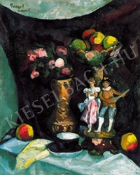 Perlrott Csaba Vilmos - Csendélet gyümölcsökkel festménye