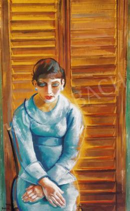 Borbereki-Kovács Zoltán - Római lány, kék ruhában