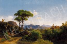 Ifj. Markó Károly - Itáliai táj, 1850