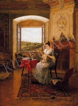 Bruck, Lajos - Sewing Woman