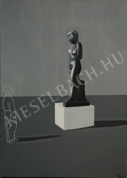 Fehér László - Fiú szobor előtt (1995)