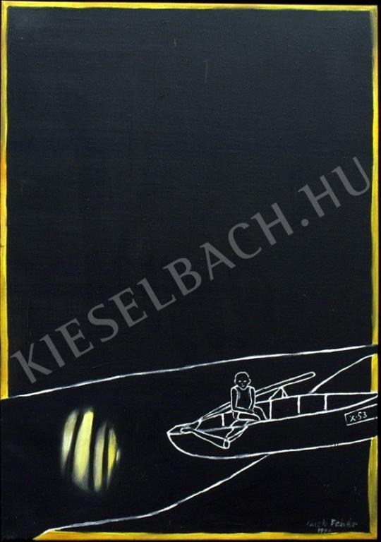 Fehér László - Csónakban II. festménye