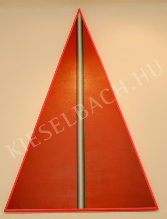 Hencze Tamás - Vörös háromszög festménye