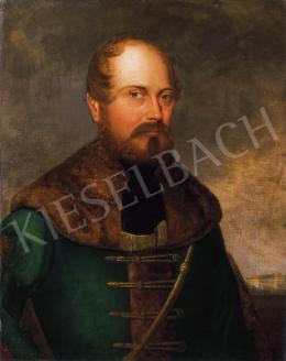 Barabás Miklós - Magyar nemes portréja háttérben kastéllyal, 1829