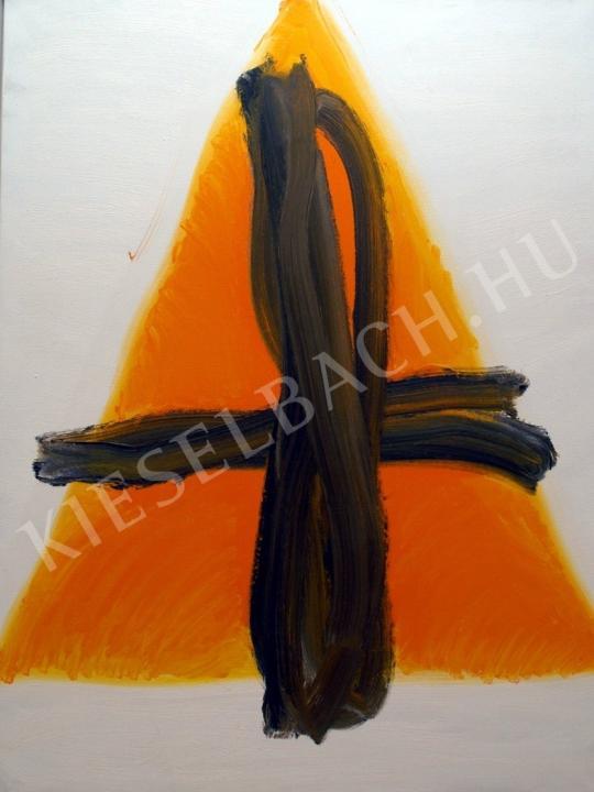 Nádler, István - Triangle III. painting