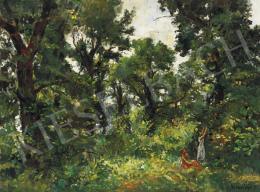 Herman, Lipót - Garden in Zsennye