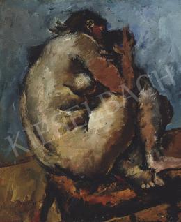 Basch Andor - Műteremben (Guggoló akt), 1937