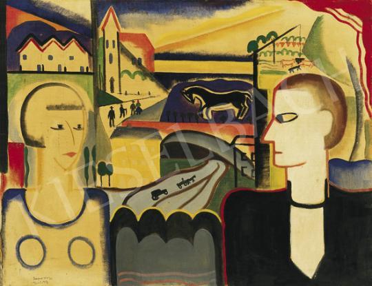 Rafael Győző Viktor - Modern Ádám és Éva (Férfi és nő) | 35. Aukció aukció / 20 tétel