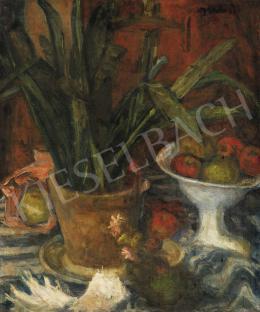 Gráber Margit - Csendélet gyümölcsöstállal