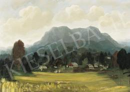 Molnár C., Pál - Landscape with Mountains