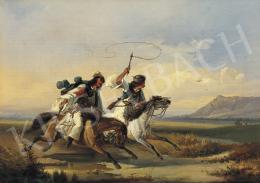 Mezey József - Lovasok, 1859