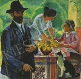 Ziffer Sándor - Uzsonna a nagybányai kertben (1919)