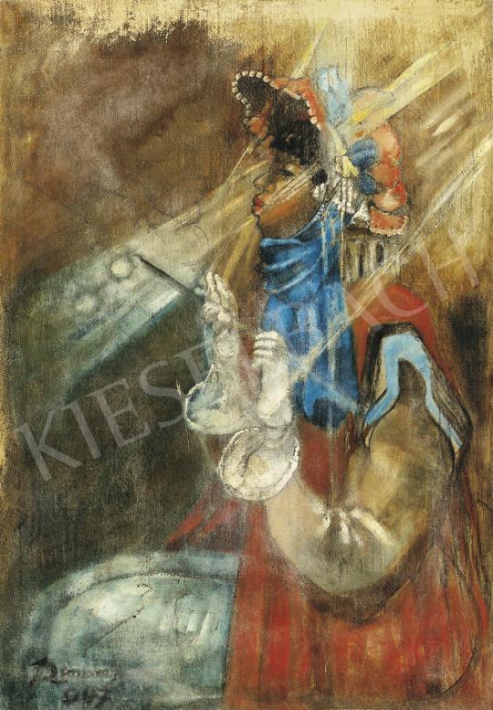 Remsey Jenő György - Kalapos nő, 1947 | 35. Aukció aukció / 64 tétel